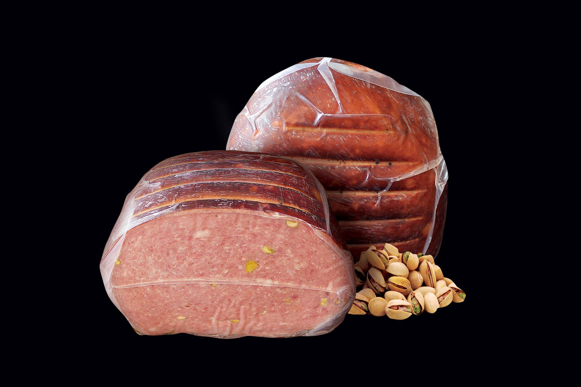 KERKINI FARM - Μορταδέλλα με Βουβαλίσιο Κρέας & Φυστίκι Αιγίνης Π.Ο.Π. 4Kg