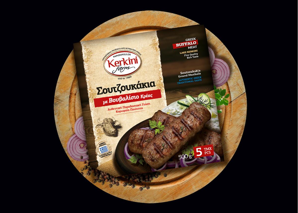 KERKINI FARM - Σουτζουκάκια με Βουβαλίσιο Κρέας 500gr