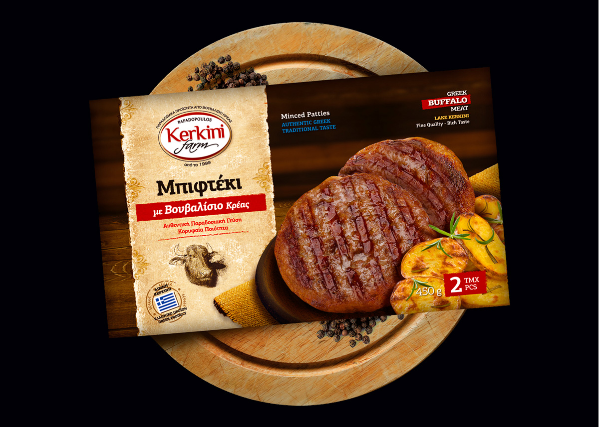KERKINI FARM - Μπιφτέκια με Βουβαλίσιο Κρέας 450gr