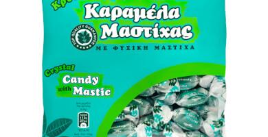 Καραμέλες κρυσταλλικές με φυσική Μαστίχα. Σακουλάκι 230g