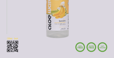 Νερό με αλόη   Γεύση μπανάνα