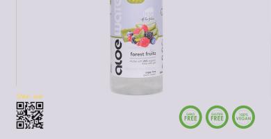 Νερό με αλόη   Γεύση φρούτα του δάσους