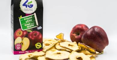 Ελληνικό αποξηραμένο μήλο χωρίς ζάχαρη