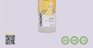 Νερό με αλόη   Γεύση λεμόνι