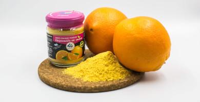 Ελληνικό αποξηραμένο πορτοκάλι σε σκόνη χωρίς ζάχαρη